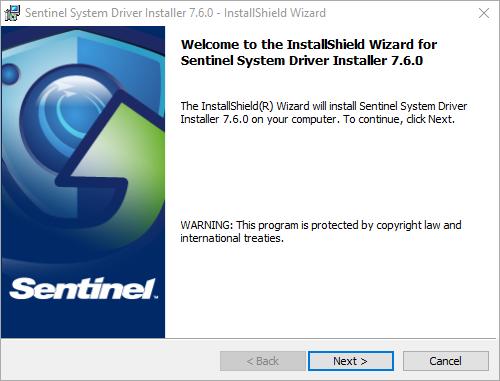 Sentinel Driver Installation